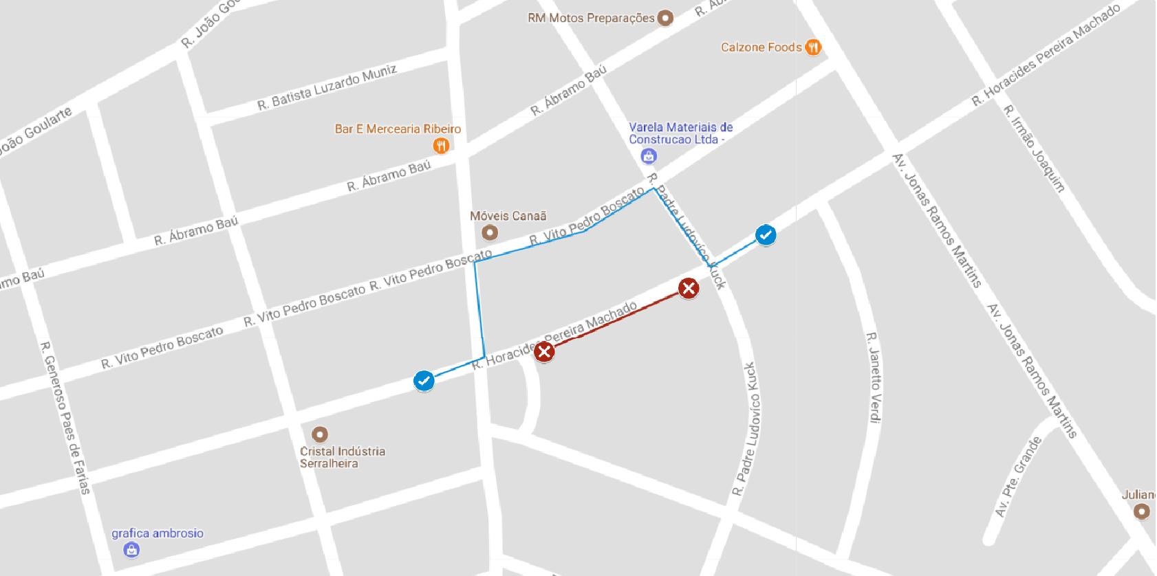 Interdição Rua Horacides Pereira Machado